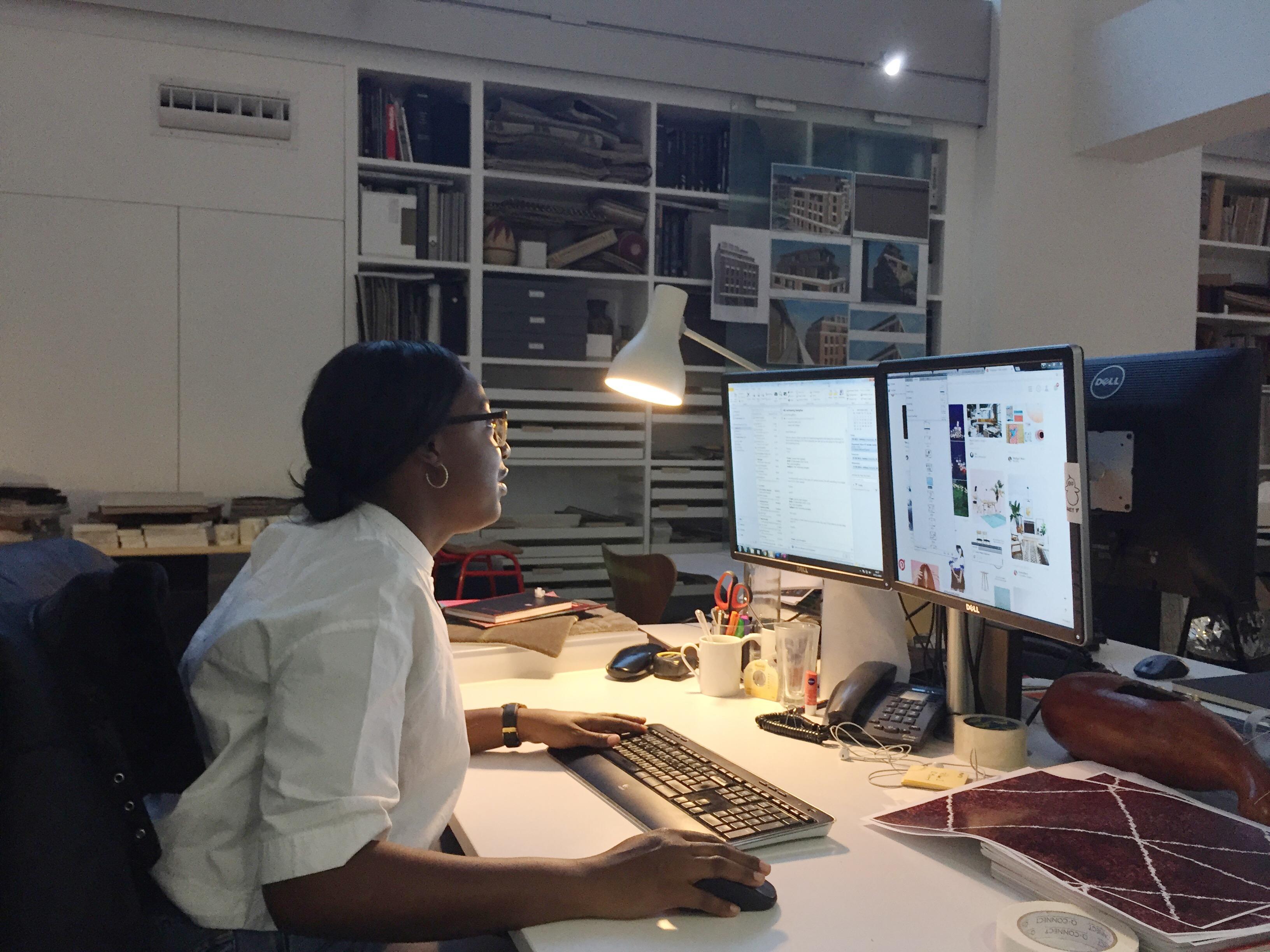 Placement experience lauren interior design intern for Interior decor internships