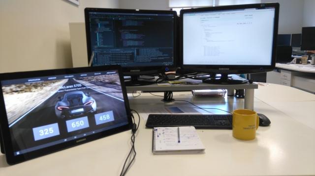 My workstation at Identity