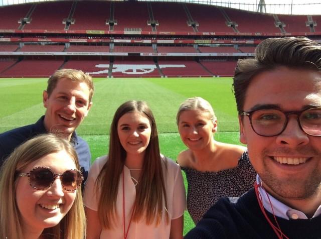 Debenhams away day at Emirates Stadium - Lisa Foote
