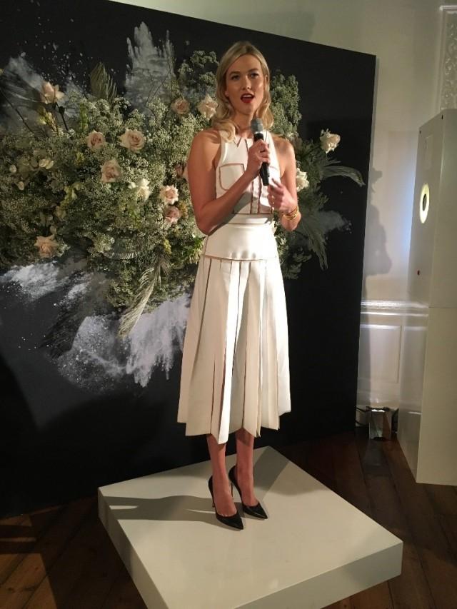 Karlie Kloss - launch party for new Caroline Herrera fragrance