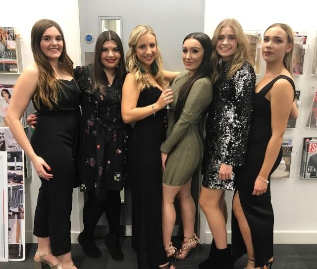 Lisa Foote with friends at Debenhams